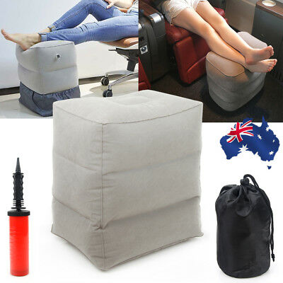 Plane Train Travel Inflatable Foot Rest Portable Pad Footrest Pillow Kids Bed AU
