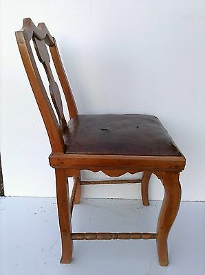 Formerly Baroque Rococo Chair um 1750 Made of Cherry Tree Tabernacle