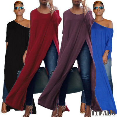 2018Women Off One Shoulder Long Sleeve T Shirt Ladies Casual Blouse Tunic Top