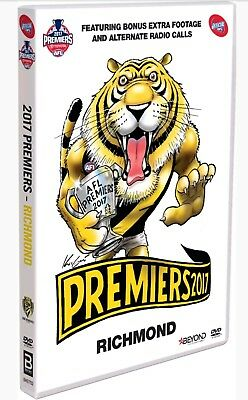 NEW 2017 AFL Grand Final Premiers Richmond Tigers Vs Adelaide Crows DVD