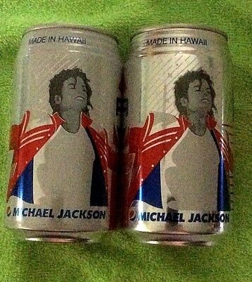 NEW 2018 FULL 12 oz PEPSI and DIET MICHAEL JACKSON - Made In HAWAII- Ribbed Can