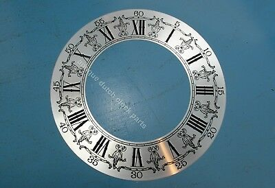 """LARGE SILVERED DIAL CHAPTER FOR GRANDFATHER CLOCK 10.5"""" or 27 cm NEW OLD STOCK!"""