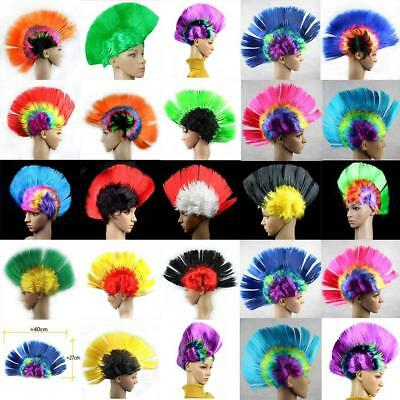Unisex Mohawk Hair Wig Mohican Punk Rock Fancy Dress Cosplay Party Costume Funny