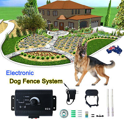 Waterproof Underground Electric Dog Fence System Shock Collars For Pet Dog AU