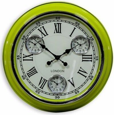 LONDON MULTI DIAL WALL CLOCK Wall Mounted Clock Vintage Antique Style Paris