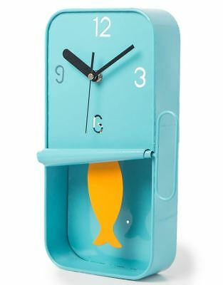 METAL SARDINE TIN PENDULUM WALL CLOCK  Wall Mounted Clock Vintage Antique Style