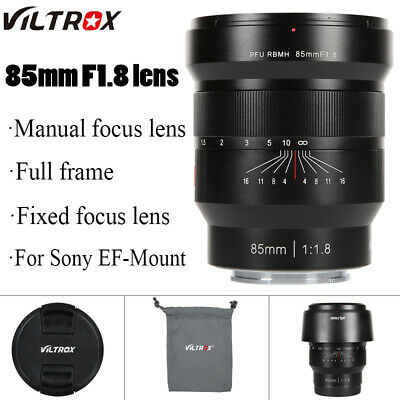 VILTROX 85mm F1.8 MF lens Portrait fixed focus lens For Sony FE mount