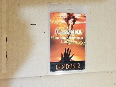 Madonna Drowned World Tour 2001 Paris 2 Backstage Pass Perri