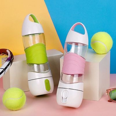 400ml Sport Smart Reminder Water Bottle Outdoor Portable With Led Light Drinking