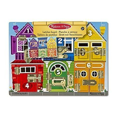 Latches Board Kids Toy - Educational Wooden Latches Board - Melissa & Doug