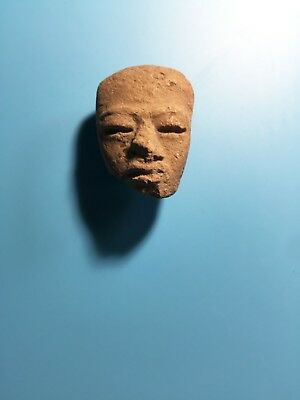 Pre-Columbian Teotihuacan Ancient Mayan Mask Antiquity Figurine Head Face Rare