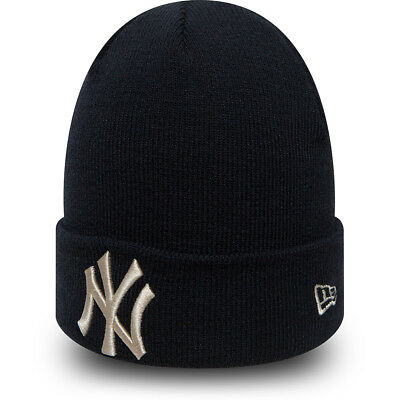 New Era New York Yankees Beanie.new Mlb League Mens Womens Navy Blue Hat 8W 0