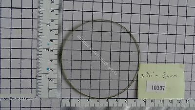 "ROUND FLAT GLASS FOR CLOCK DIAL FACE 3 9/32"" or 8,4 cm across"