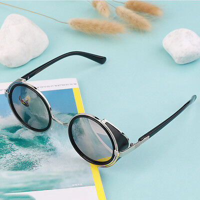Steampunk Sunglasses Round Glasses Cyber Goggles Vintage Retro Style Blinder DF