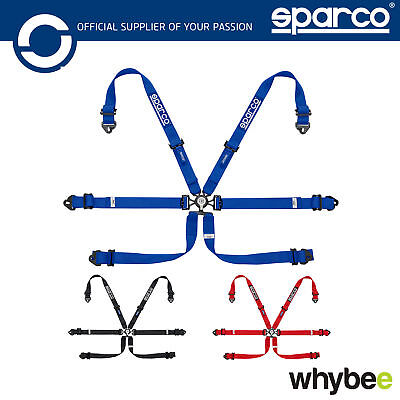 New 04818 RALPD Sparco Seat Belt Saftey Harness Lightweight 6 Point FIA Approved