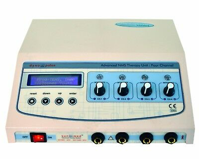 Electrotherapy Electrical Stimulator 4 Ch Electrotherapy LCD Chiropractic QI@1