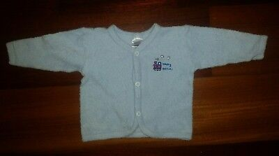 Baby Bonds Boys Vintage Train Terry Toweling Cardigan  - Size 000