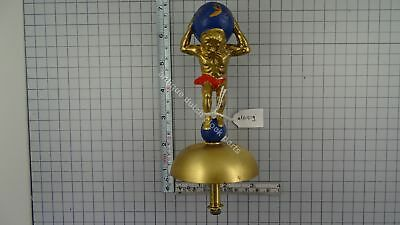 "Zaandam Or Zaanse Clock Atlas On Bell 6 1/4"" Or 16 Cm Tall"