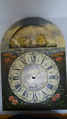 Large Friesian Tail Clock Dial With Moving Boats