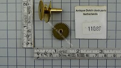 Fhs / Hermle 261-***  Original Brass Replacement Set For Hour Pipe & Hour Wheel