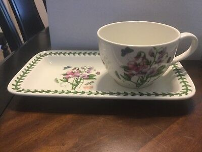 Portmeirion soup & sandwich set Sweet Pea New in Box