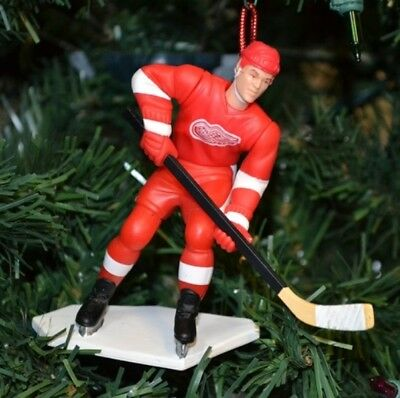 Paul Coffey Detroit Red Wings Red Jersey Hockey Christmas Tree Ornament NHL #77