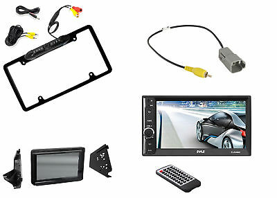 Pyle Touchscreen Radio, Metra Polaris Splash Guard, Backup Camera + Harness