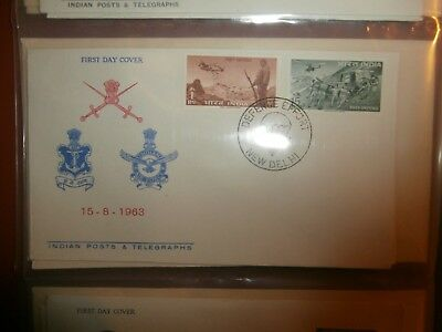 India 1963 First Day Covers x 10 New Dehli