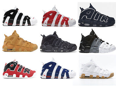 NIKE AIR MORE UPTEMPO 96 Originale Retro Unisex 9 varianti colore EUR 36-46
