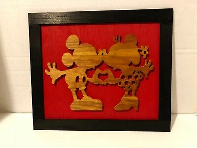 Disney Mickey Mouse Minnie Mouse Sign Plaque 3D Kids Bedroom Nursery Wood NEW