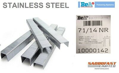 STAINLESS STEEL 71 TYPE STAPLES 14MM BY BeA