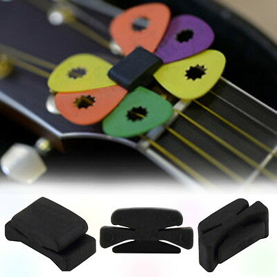 Professional Guitar HeadStock Pick Holder Rubber Musical instruments OK