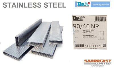 STAINLESS STEEL 90 TYPE STAPLES 40MM BY BeA