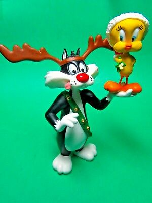 1993 Hallmark Looney Tunes Sylvester Cat Tweety Bird Christmas Ornament (No Box)