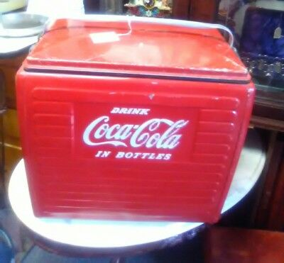 1950's COCA-COLA  COOLER ICE CHEST  W/TRAY &  BOTTLE OPENER VERY NICE UNIQUE