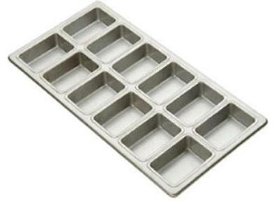 Focus Foodservice 905755 Mini-Loaf Bread Pan Holds 12 Mini Loaves