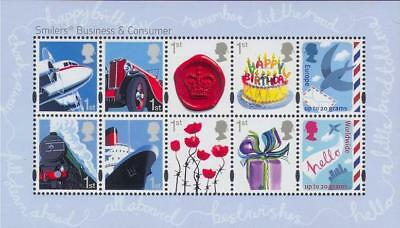 G.B. 2010 Business & Consumers Smiler mini sheet u/m