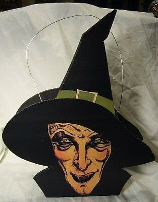 Bethany Lowe Halloween  Haggy Witch Lantern + battery operated tea light