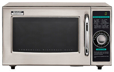 Sharp R21LCFS Dial 1000 Watts Microwave Oven SS Medium Full Wrty Small dent back