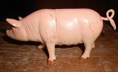 boley 3 inch tall by 7 inches long plastic sow with scuff marks good shape used