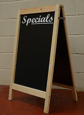 Large Wooden Pavement Sign A-Board Chalkboard With Header Wording