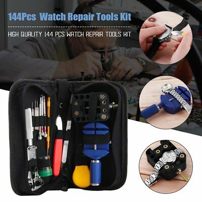 144 Watch Repair Tool Kit Sizing Includes Battery Replacement Link Removal AB