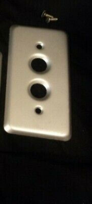~Vintage~ (4pcs) (NOS) Historic 2 Button Push Switch Plate Covers (HEAVY DUTY)