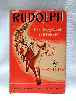 """Vtg 1939 """"Rudolph the Red-Nosed Reindeer"""" by Robert L. May Hard Cover Book"""