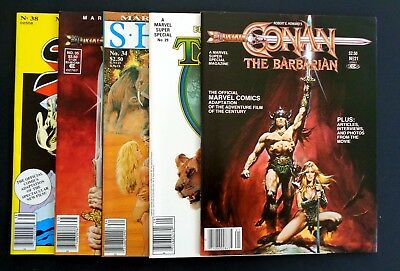 MARVEL SUPER SPECIAL #s 21,29,34,35,38 [Conan, Red Sonja, Sheena, Tarzan)-NM/NM+