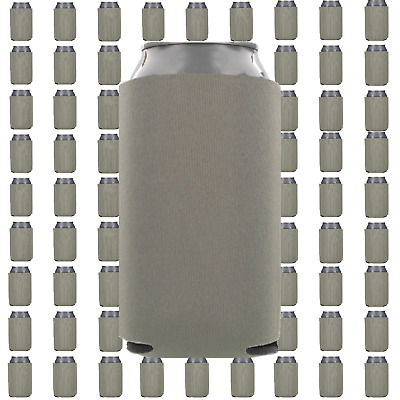 Gray/Grey Beverage Insulators Can Coolers Lot of 10 Blank Drink Sleeves