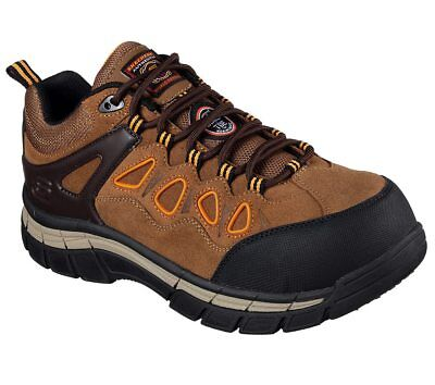684290ac7dcb SKECHERS MEN S BROWN ORANGE Geo-Trek Pro Force memory foam shoes ...
