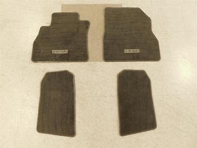 2011-2017 Nissan Leaf Carpet Floor Mat Set Grey Front Rear Oem