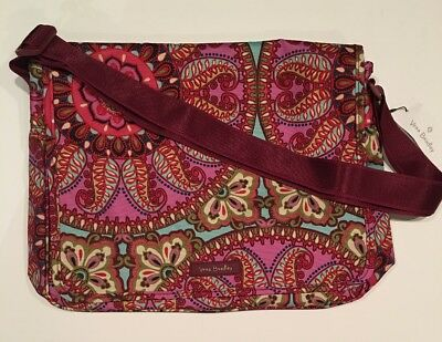 0ff0b3562c9d Vera Bradley MESSENGER Resort Medallion Lighten Up Bag Campus Crossbody  Shoulder
