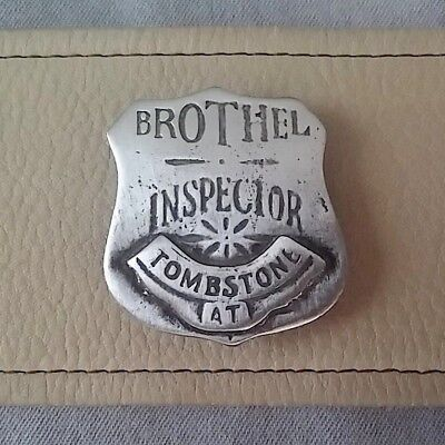 Brothel Inspector Tombstone  (Badges Of The  Old West) Free Shipping
